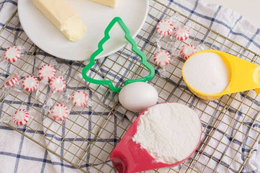 What you'll need to make Candy Cane Forest Sugar Cookie Trees