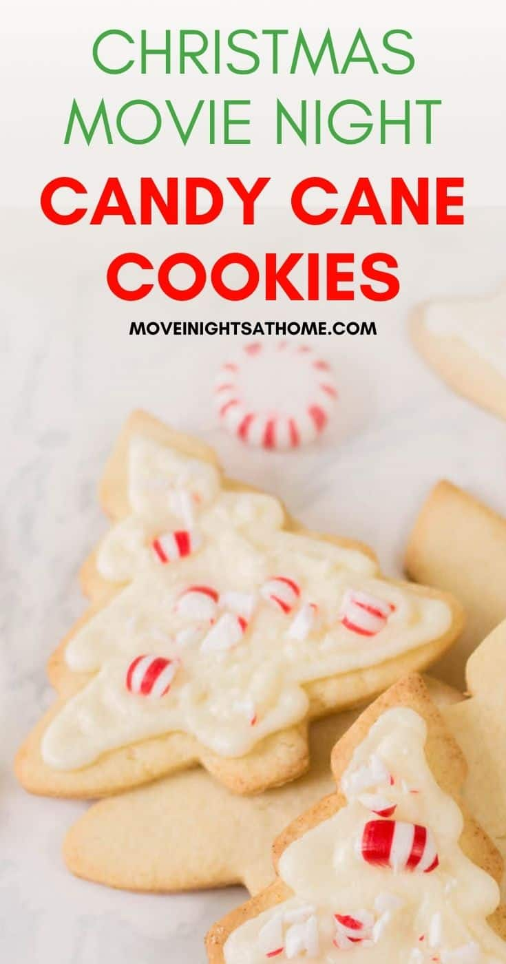 Christmas Movie Night Candy Cane Cookies