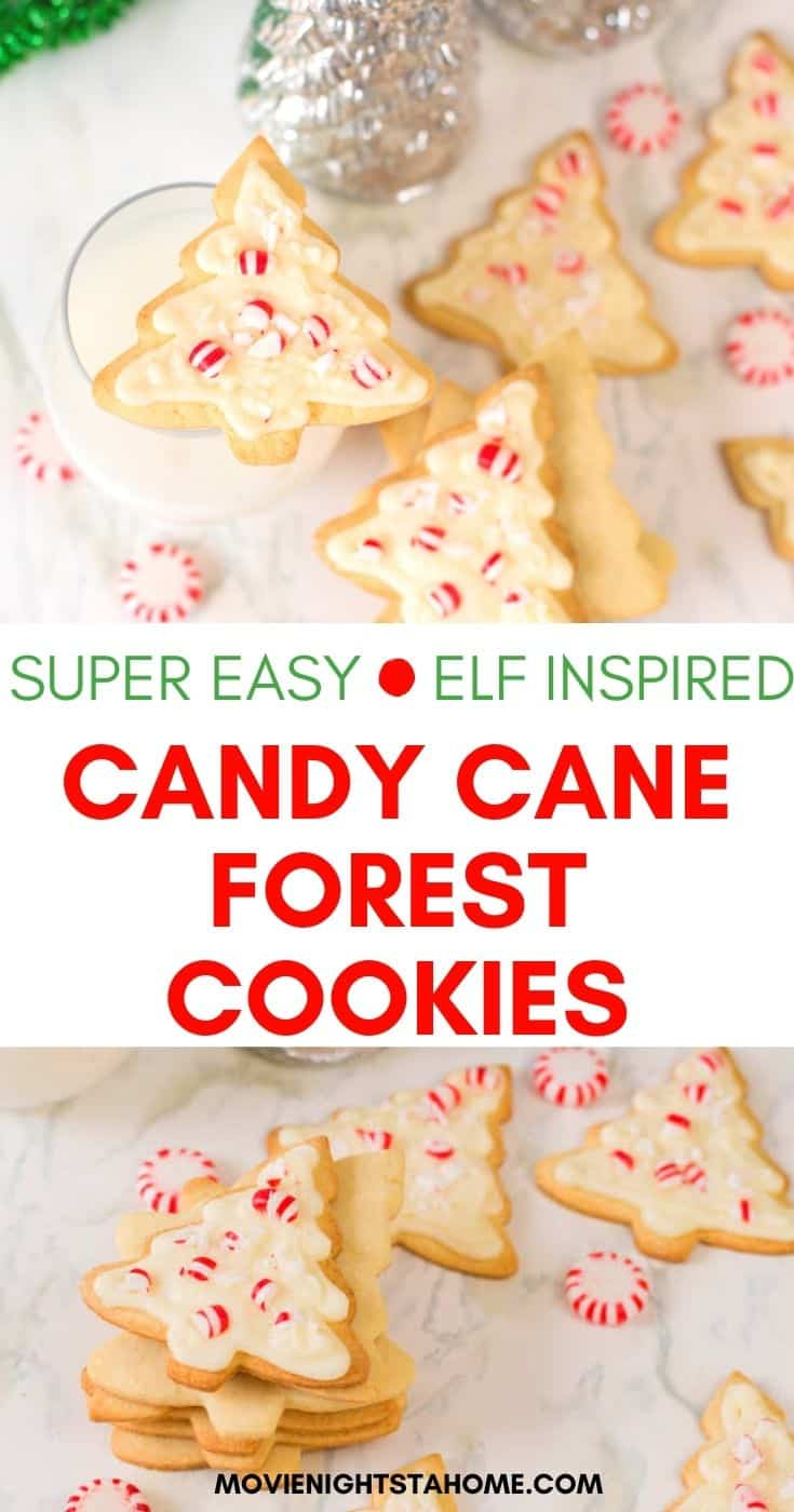 Super Easy Elf Inspired Candy Cane Forest Cookies