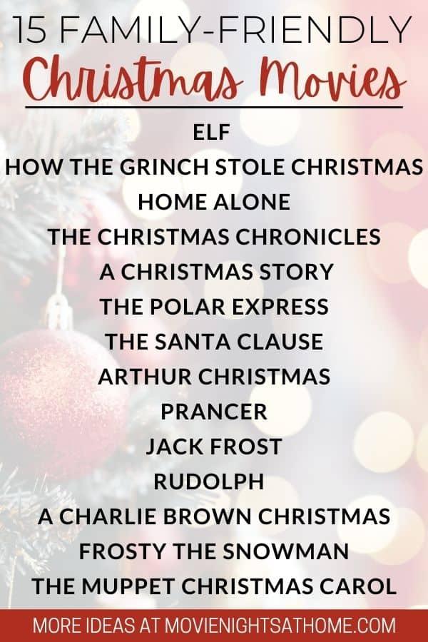 Family Friendly Christmas Movies List