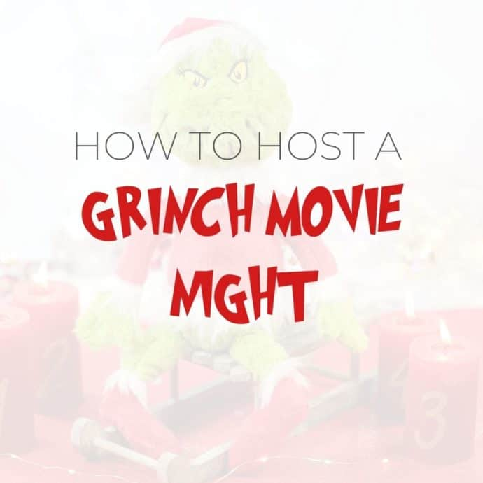 how to host a grinch movie night