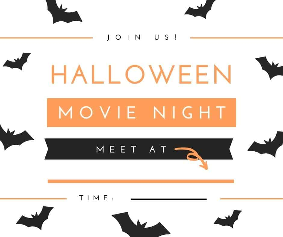 Halloween Movie Night Invitation