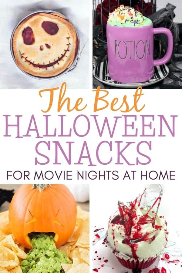 collage of Halloween movie night snacks (1)