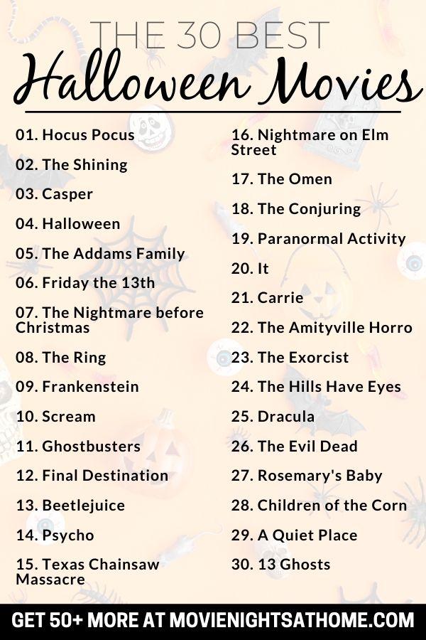 List of 30 Halloween Movies