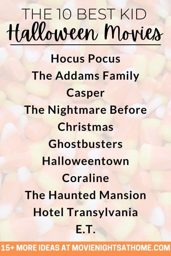 list of best kid halloween movies