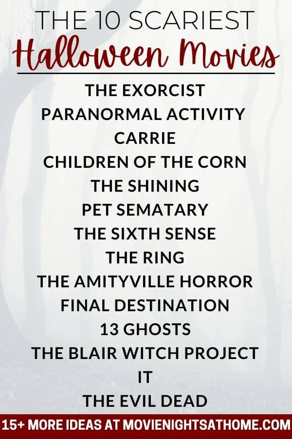 list of best scary halloween movies