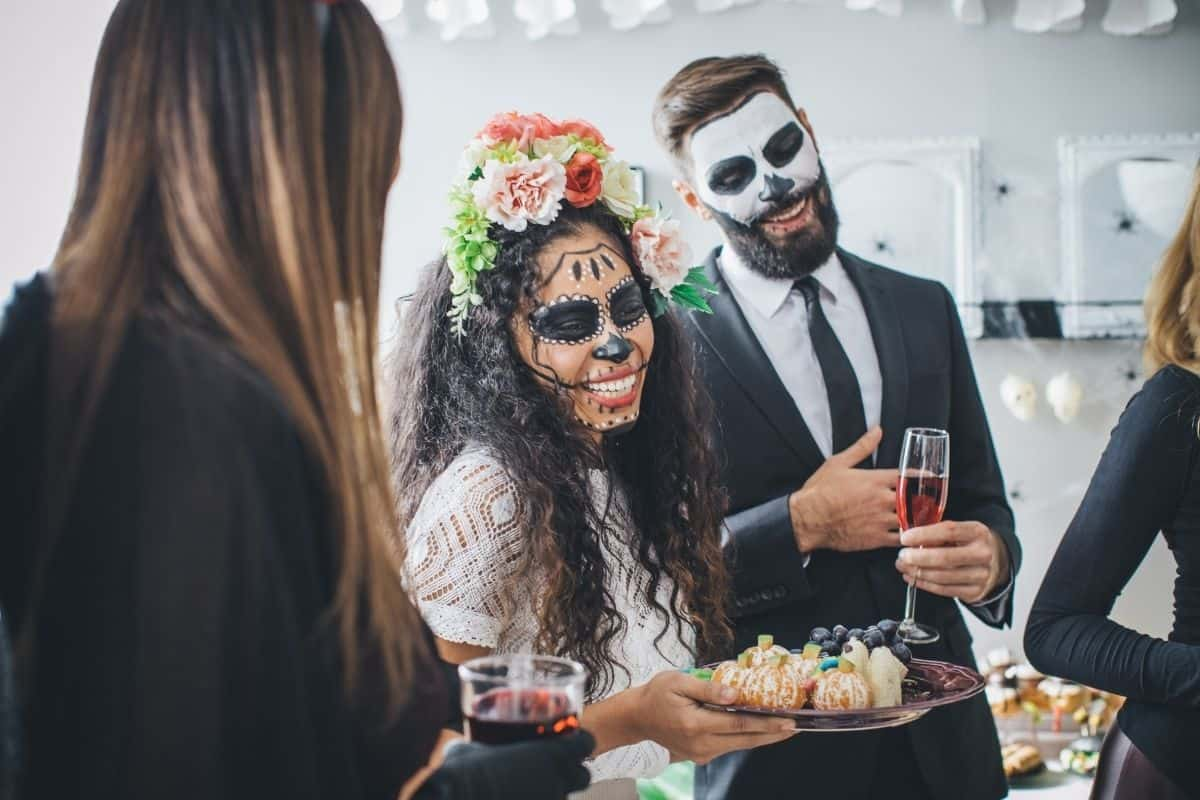 host a halloween movie night party