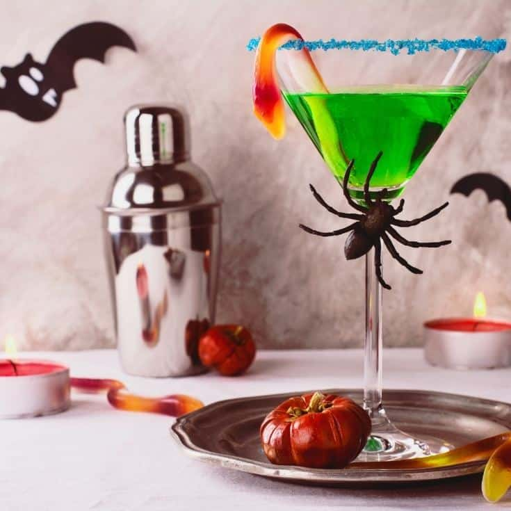 green spooky halloween cocktail