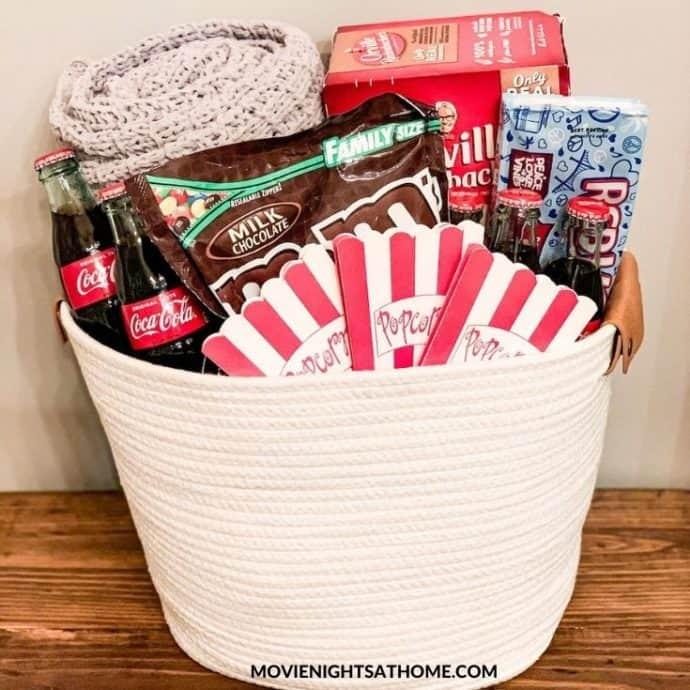 DIY Family Movie Night Gift Basket