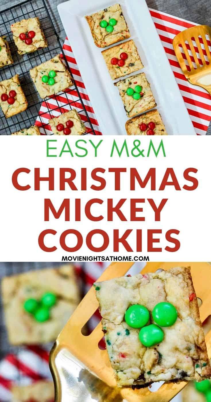 Easy Mickey Christmas Funfetti Cake Mix Cookies