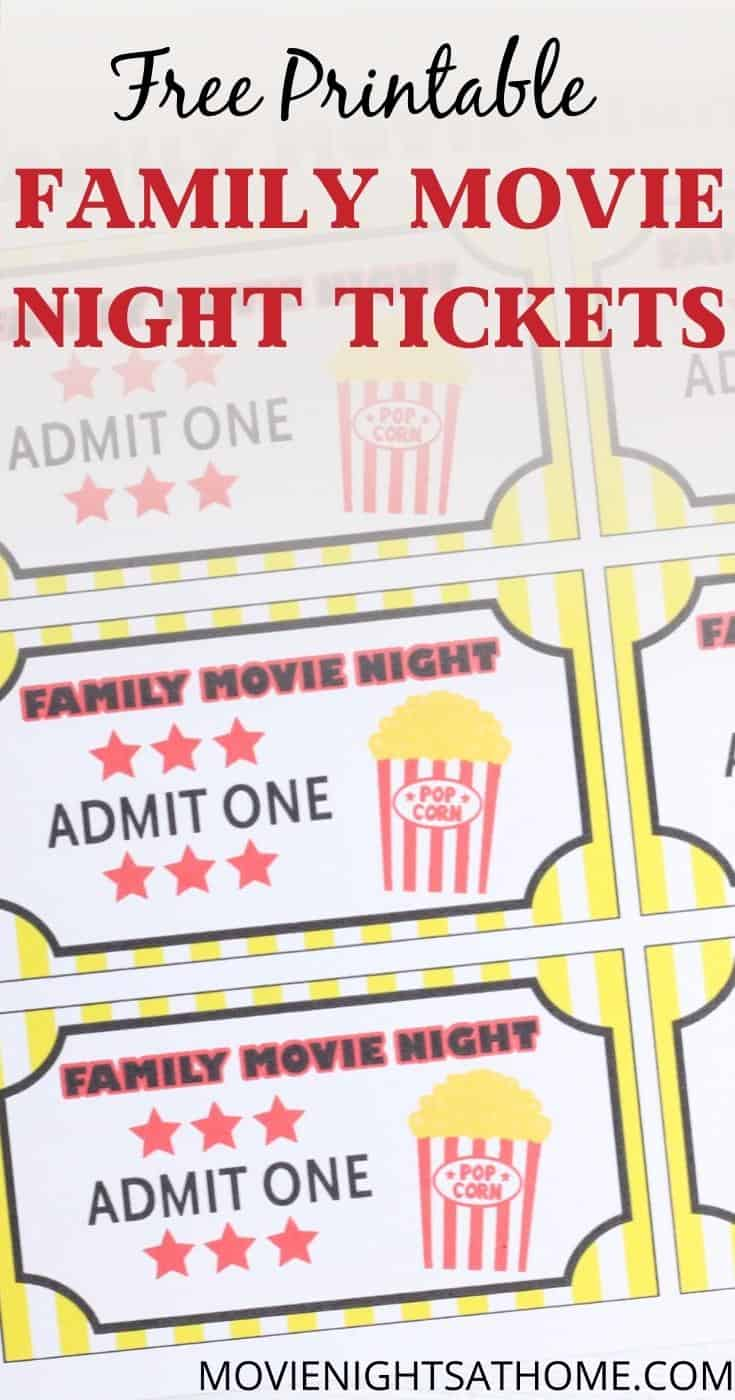 Free Movie Night Invitation Template Printables