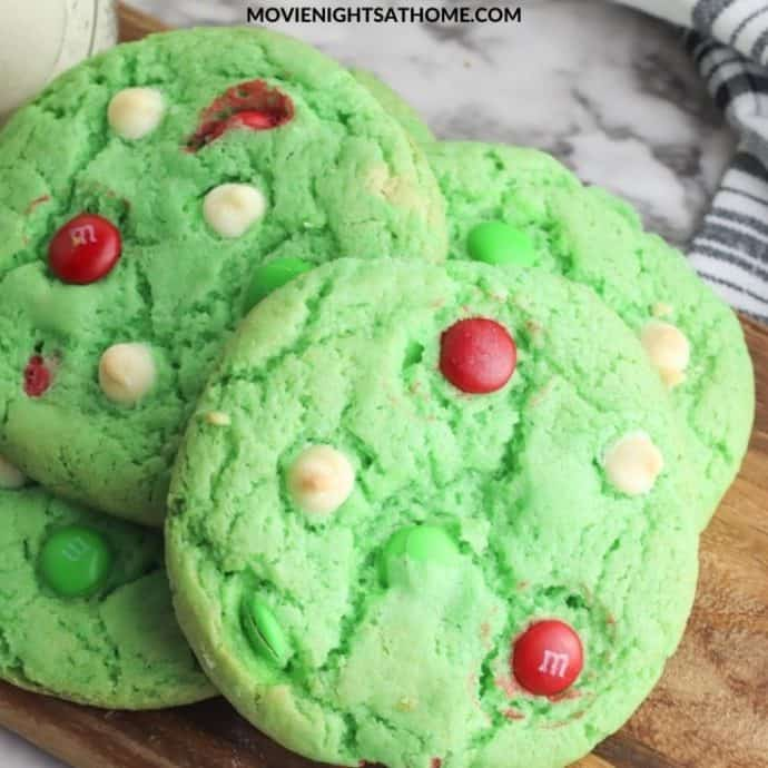 Grinch Cake Cookies