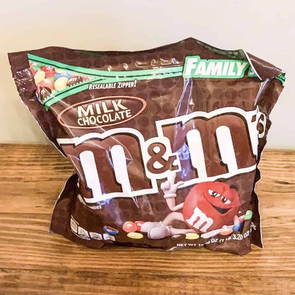 large bag of m&ms