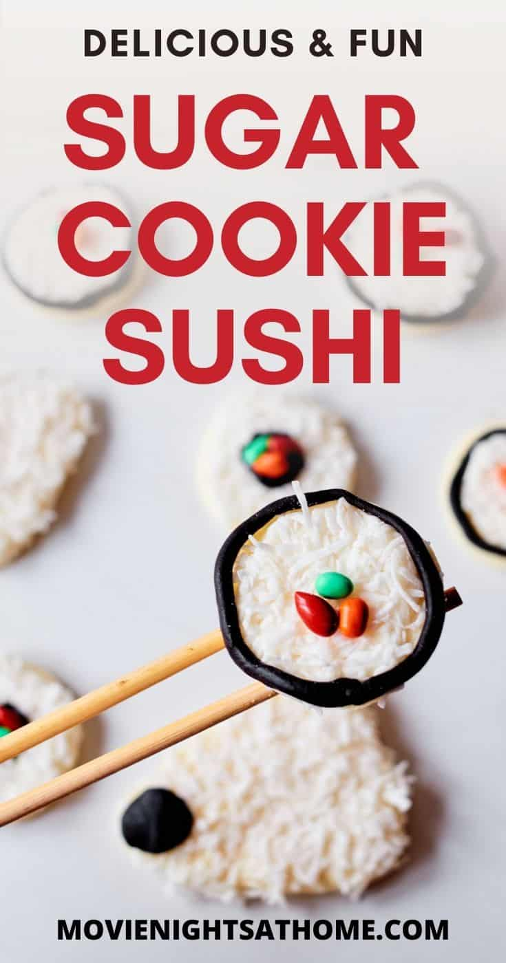 Sugar cookie sushi cookies