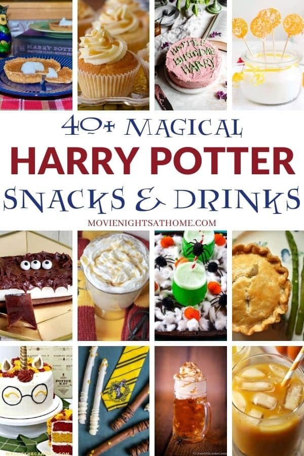 harry potter snacks collage