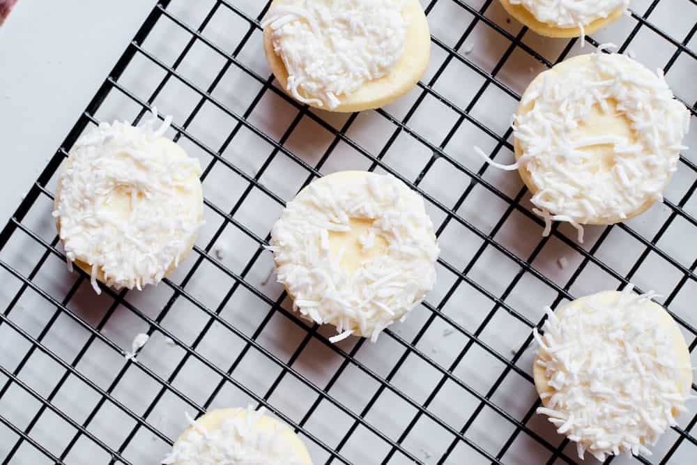 step 2 top cookies with icing and frosting