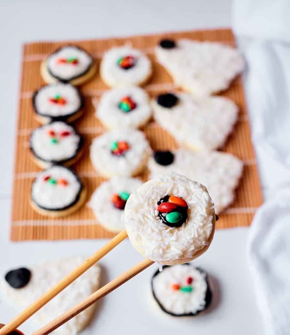 sugar cookie sushi pieces
