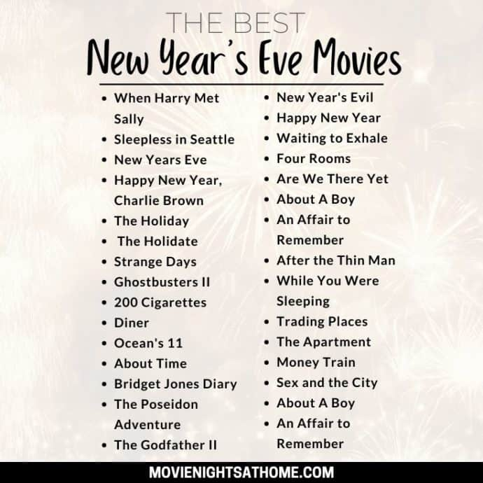 New Year's Eve Movies List