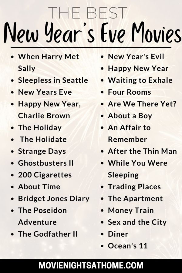 New Years Eve Movies List