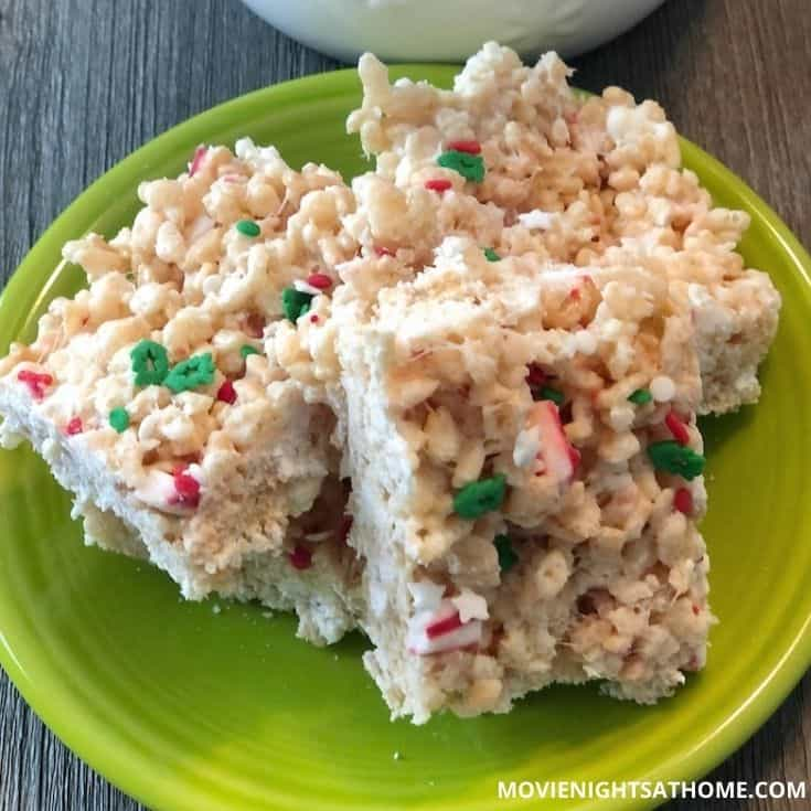 3 White Chocolate Peppermint Rice Krispie Treats
