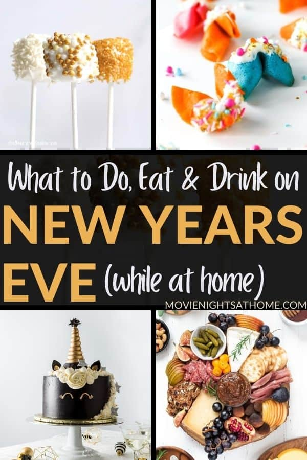 what to do eat and drink on new years eve at home