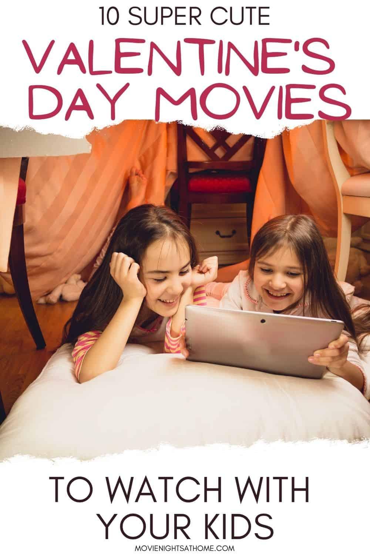 2 Little girls watching Valentines Movies for Kids