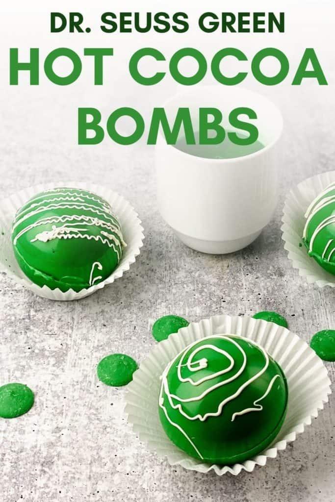 dr seuss green hot chocolate bombs