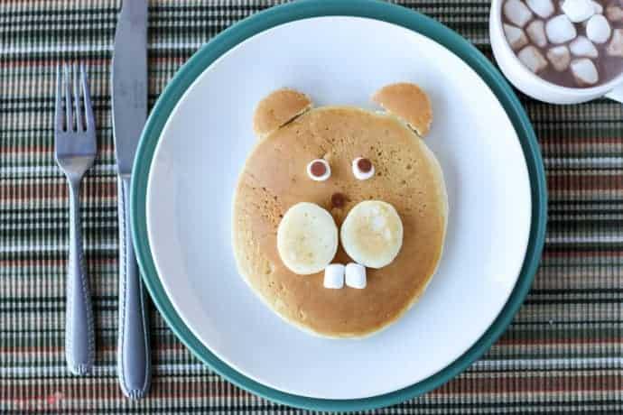 groundhog's day pancakes