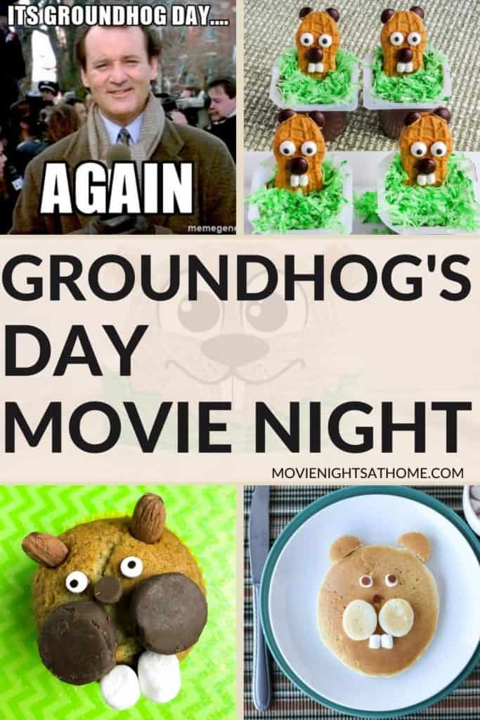 groundhogs day movie night collage