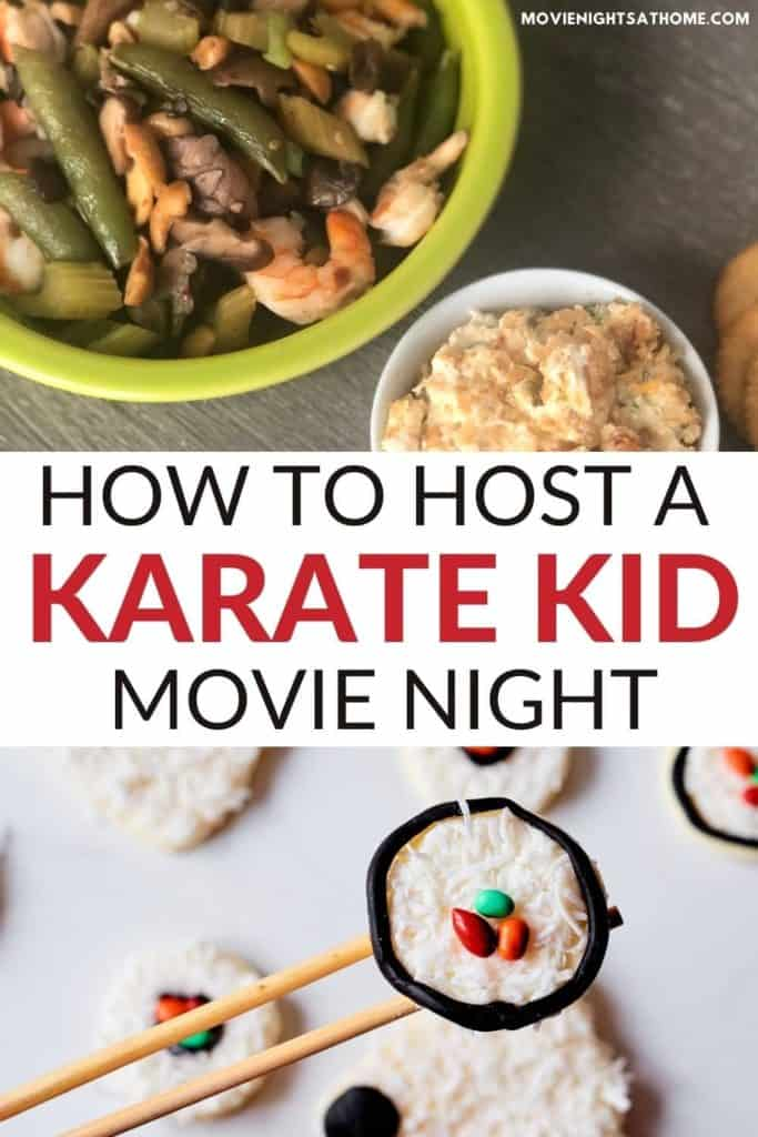how to host a Karate Kid movie night