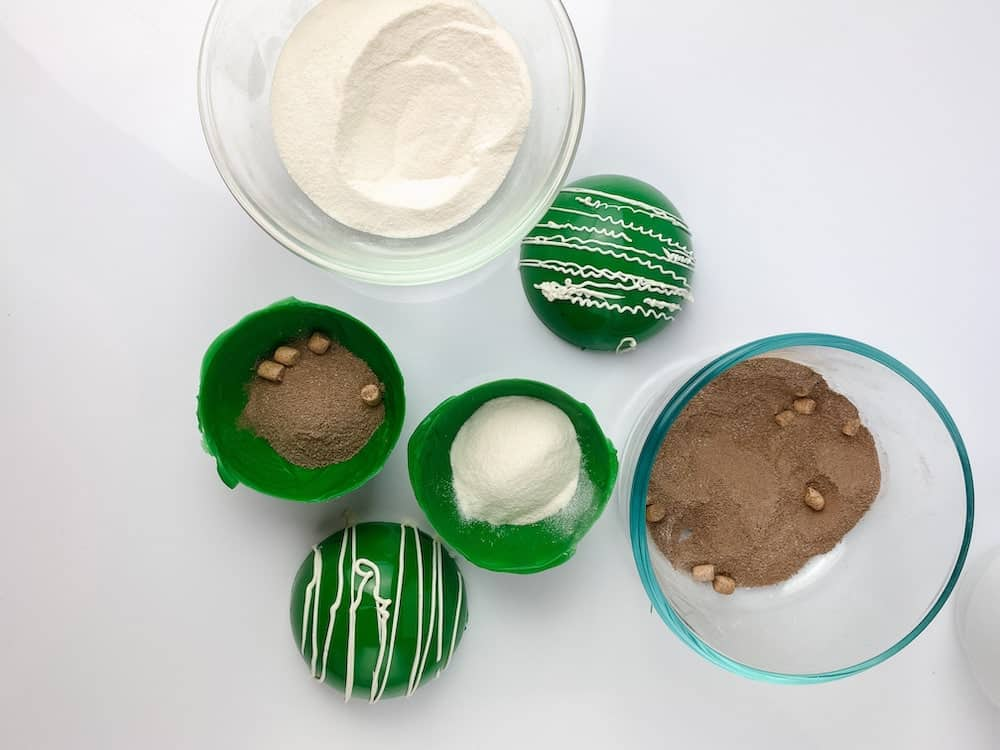 making dr seuss hot cocoa bombs