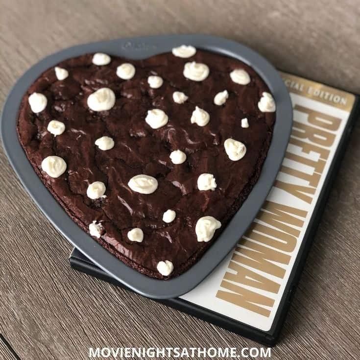 pretty woman heart shaped polka dot iced brownies