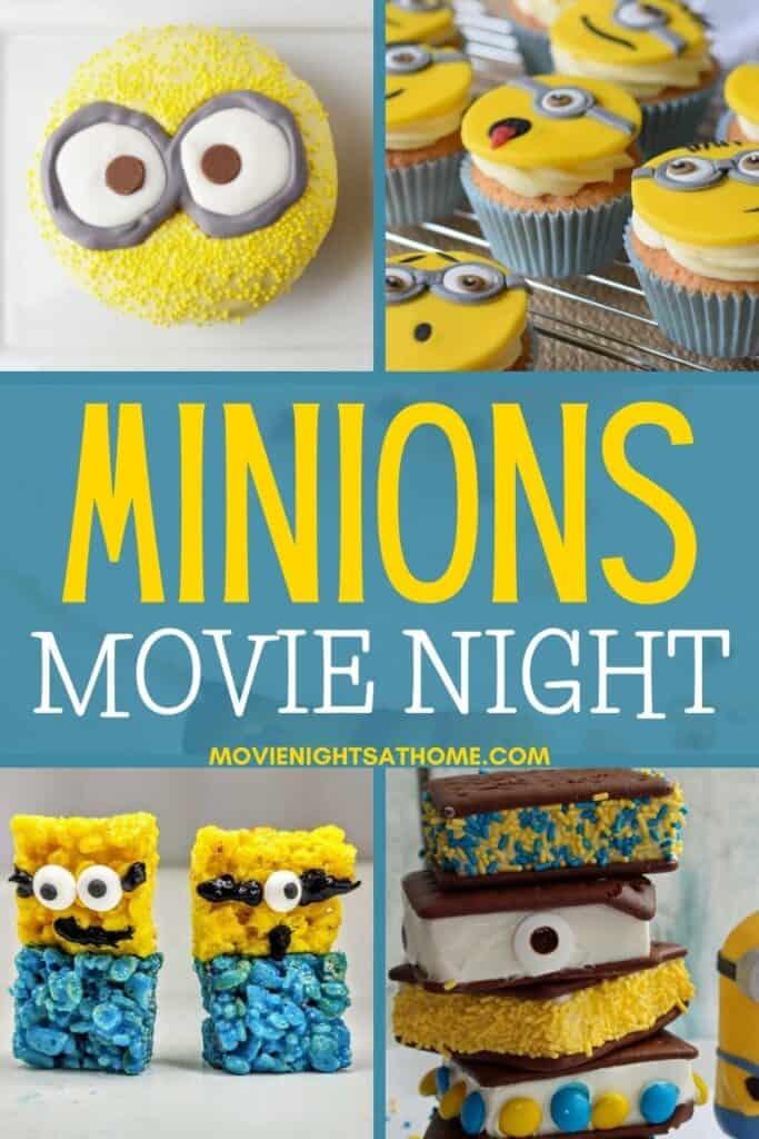 Minions Movie Night Menu Collage