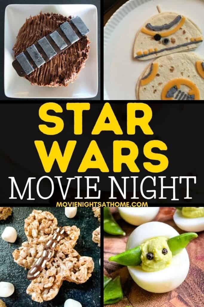 star wars movie night menu collage
