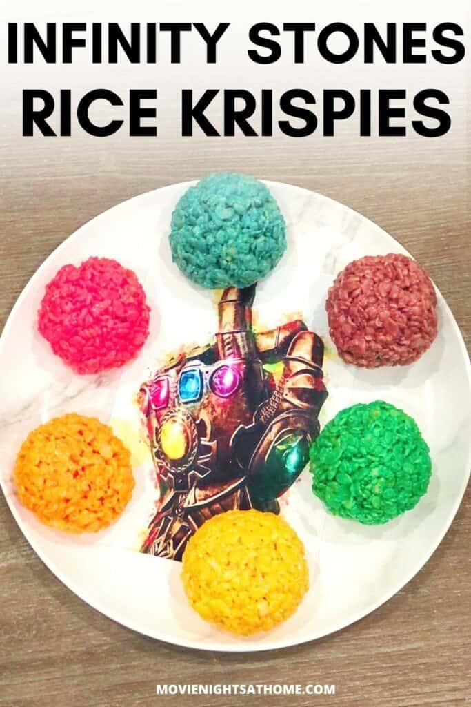 Thanos Rice Krispie Infinity Stones