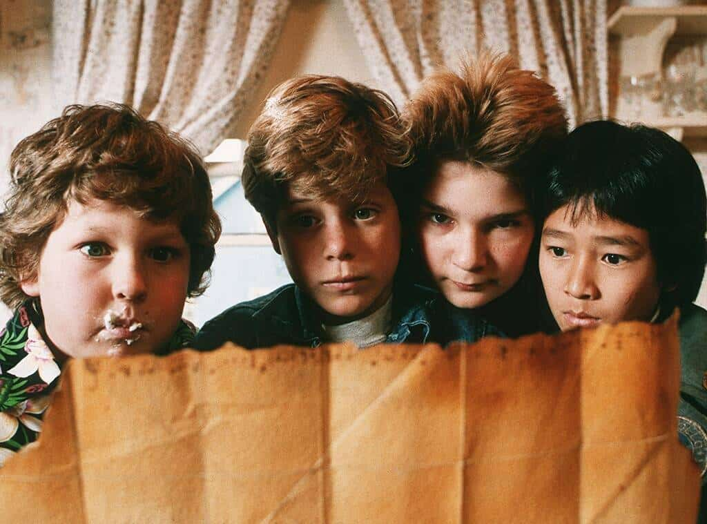 Goonies Movie Night - The Goonies looking at the treasure map