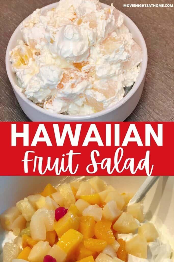 Hawaiian Fruit Salad Recipe Collage