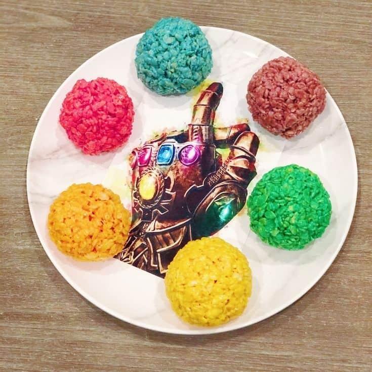Thanos Rice Krispy Infinity Stones