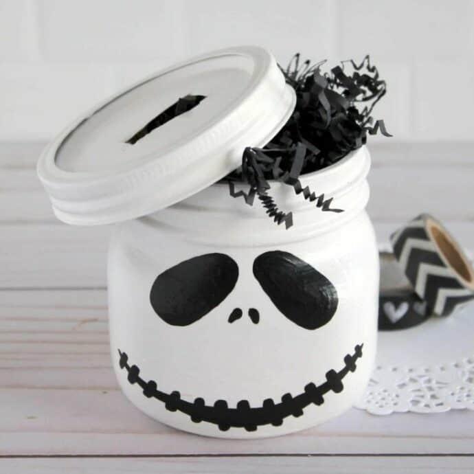 DIY Nightmare Before Christmas Jack Mason Jar