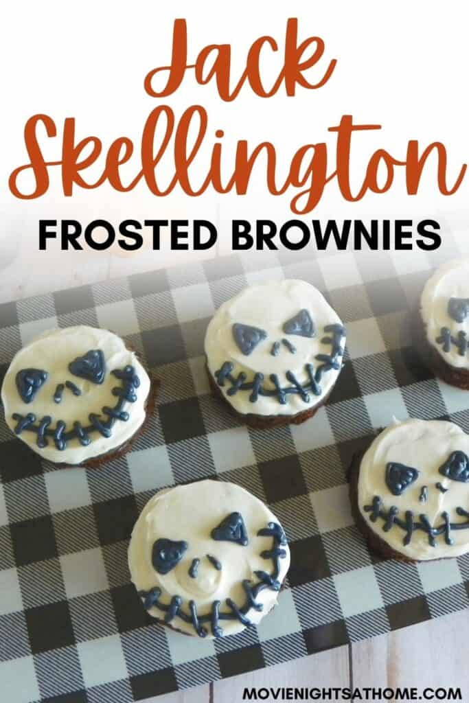 Easy Jack Skellington Brownies