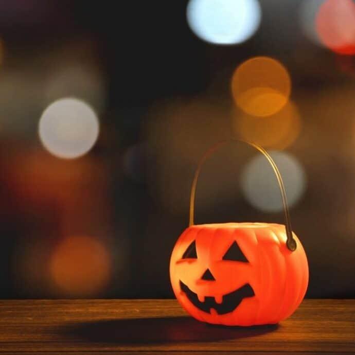 trick or treat pumpkin pail