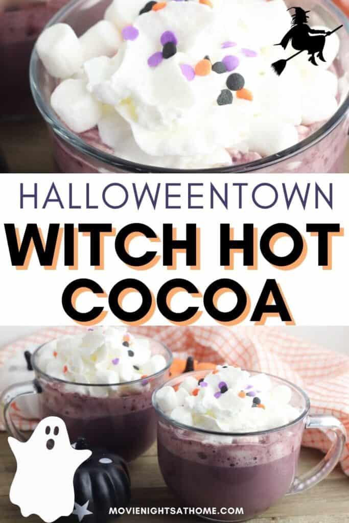 halloweentown hot chocolate collage