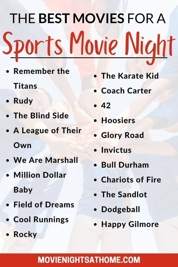 list of the best sports movies for a movie night