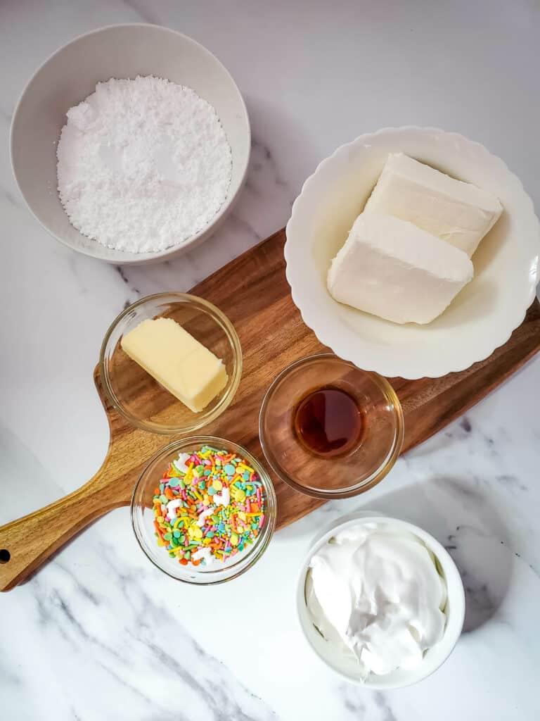 Cookie Dip ingredients