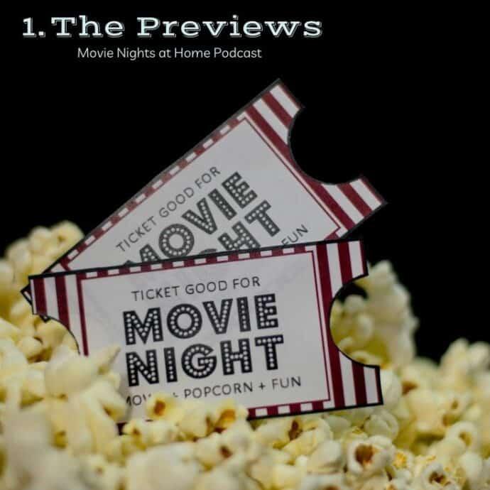 Movie Tickets sitting in popcorn