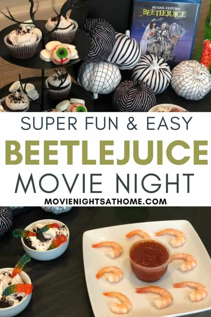 Beetlejuice Party Collage of Foods