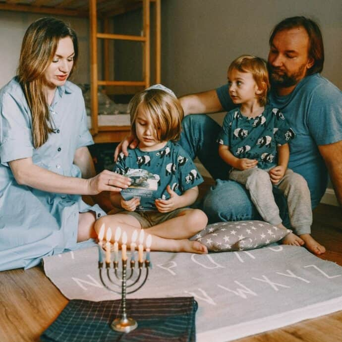 family at Hanukkah